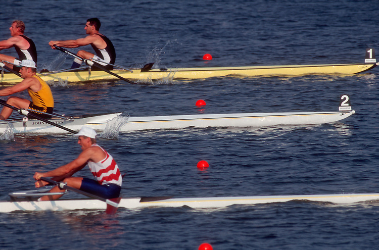 Rowing: FISA World Rowing Championships, Indianapolis, Indiana, double sculls, regatta, race,.