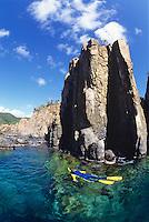 Snorkeler at Great Lameshur Bay<br /> Virgin Islands National Park<br /> St. John<br /> U.S. Virgin Islands