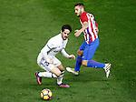 Atletico de Madrid's Koke Resurrecccion (r) and Real Madrid's Isco Alarcon during La Liga match. November 19,2016. (ALTERPHOTOS/Acero)