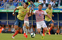 SALVADOR – BRASIL, 23-06-2019:Luis Diaz de Colombia disputa el balón con Ivan Piris de Paraguay durante partido de la Copa América Brasil 2019, grupo B, entre Colombia y Paraguay jugado en el Arena Fonte Nova de Salvador, Brasil. /Luis Diaz of Colombia vies for the ball with Ivan Piris of Paraguay during the Copa America Brazil 2019 group B match between Colombia and Paraguay played at Fonte Nova Arena in Salvador, Brazil. Photos: VizzorImage / Julian Medina / Cont /