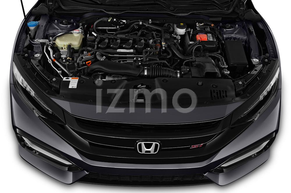 Car Stock 2020 Honda Civic-Si-Sedan Si 4 Door Sedan Engine  high angle detail view