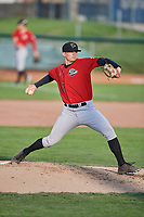 Great Falls Voyagers starting pitcher Davis Martin (17) delivers a pitch during a game against the Ogden Raptors at Lindquist Field on August 22, 2018 in Ogden, Utah. Great Falls defeated Ogden 3-1. (Stephen Smith/Four Seam Images)