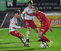 FC GULLEGEM - KV KORTRIJK :<br /> vriendschappelijke wedstrijd<br /> Erwin Seignez (R) en Kristof D'Haene (L)<br /> <br /> Foto VDB / Bart Vandenbroucke