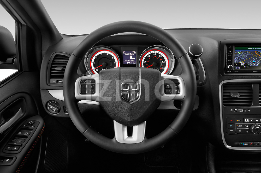 Car pictures of steering wheel view of a 2019 Dodge Grand-Caravan GT 5 Door Minivan Steering Wheel