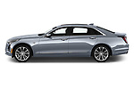 Car Driver side profile view of a 2019 Cadillac CT6 Platinum 4 Door Sedan Side View