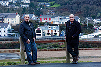 WORDS BY JANE FRYER, DAILY MAIL<br /> Pictured: (L-R) Gethin James who owns a local take away cafe and Councillor Gethin Davies in Aberporth, west Wales, UK. Thursday 21 December 2017<br /> Re: The Welsh coastal village of Aberporth has launched a crusade against single-use plastic products.<br /> The village's general store is selling milk in glass bottles and a pub has replaced plastic drinking straws with paper ones.<br /> Residents launched Plastic-free Aberporth as the UK government's Environment Secretary, Michael Gove, issued his four-point plan for tackling plastic waste.