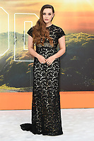 """LONDON, UK. July 30, 2019: Katherine Langford at the UK premiere for """"Once Upon A Time In Hollywood"""" in Leicester Square, London.<br /> Picture: Steve Vas/Featureflash"""
