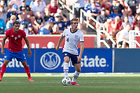 SANDY, UT - JUNE 10: Jackson Yell #14 of the United States moves with the ball during a game between Costa Rica and USMNT at Rio Tinto Stadium on June 10, 2021 in Sandy, Utah.