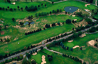Aeriel view of a golf course. Massachusetts.