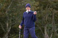 1st October 2021; Kingsbarns Golf Links, Fife, Scotland; European Tour, Alfred Dunhill Links Championship, Second round; Billy Horschel senior celebrated his 70th birthday at Kingsbarns Golf Links partnering his tour pro son