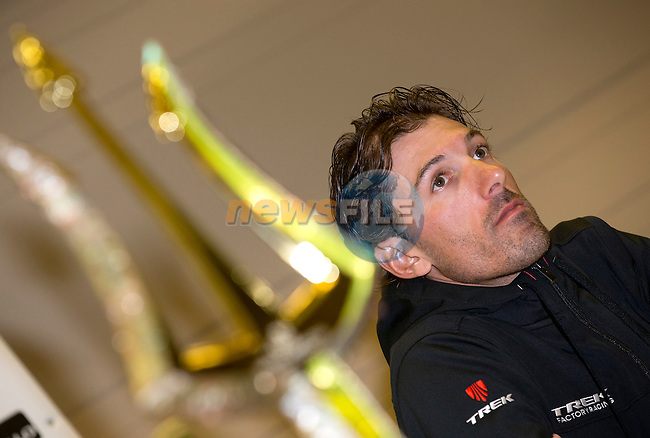 Fabian Cancellara (SUI) Trek Factory Racing at press conference to launch the 2015 Tirreno-Adriatico cycle race held in Lido di Camaiore, Lucca, Italy. 10th March 2015. Photo: ANSA/Claudio Peri/www.newsfile.ie