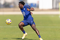 BRADENTON, FL - JANUARY 23: George Bello moves with the ball during a training session at IMG Academy on January 23, 2021 in Bradenton, Florida.