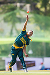 Jerry Nqolo of South Africa bowls during Day 2 of Hong Kong Cricket World Sixes 2017  match between South Africa vs Sri Lanka at Kowloon Cricket Club on 29 October 2017, in Hong Kong, China. Photo by Yu Chun Christopher Wong / Power Sport Images