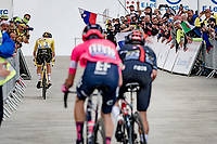 Tadej Pogacar (SVN/UAE-Emirates) followed closely up the Mont Ventoux top by Richard Carapaz (COL/Ineos Grenadiers) & Rigoberto Urán (COL/EF Education - Nippo)<br /> <br /> Stage 11 from Sorgues to Malaucène (199km) running twice over the infamous Mont Ventoux<br /> 108th Tour de France 2021 (2.UWT)<br /> <br /> ©kramon