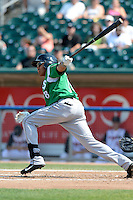 Dayton Dragons outfielder Jon Matthews (38) during a game against the Lansing Lugnuts on August 25, 2013 at Cooley Law School Stadium in Lansing, Michigan.  Dayton defeated Lansing 5-4 in 11 innings.  (Mike Janes/Four Seam Images)