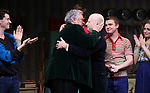 """Harvey Fierstein and Richie Jackson with cast  during the Broadway Opening Night Curtain Call for """"Torch Song"""" at the Hayes Theater on November 1, 2018 in New York City."""