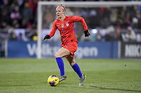 COLUMBUS, OH - NOVEMBER 07: Becky Sauerbrunn #4 of the United States turns and moves with the ball during a game between Sweden and USWNT at MAPFRE Stadium on November 07, 2019 in Columbus, Ohio.