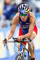 07 AUG 2011 - LONDON, GBR - Mario Mola (ESP) - men's round of triathlon's ITU World Championship Series .(PHOTO (C) NIGEL FARROW)