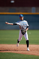 Jonathan Rosa during the Under Armour All-America Pre-Season Tournament, powered by Baseball Factory, on January 19, 2019 at Sloan Park in Mesa, Arizona.  Jonathan Rosa is a second baseman from Luquillo, Puerto Rico who attends International Baseball Academy.  (Mike Janes/Four Seam Images)