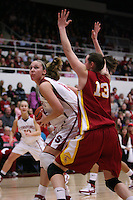 31 January 2008: Stanford Cardinal Kayla Pedersen during Stanford's 77-51 win against the USC Trojans at Maples Pavilion in Stanford, CA.