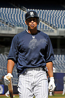 Apr 02, 2011; Bronx, NY, USA; New York Yankees infielder Alex Rodriguez (13) during game against the Detroit Tigers at Yankee Stadium. Yankees defeated the Tigers 10-6. Mandatory Credit: Tomasso De Rosa