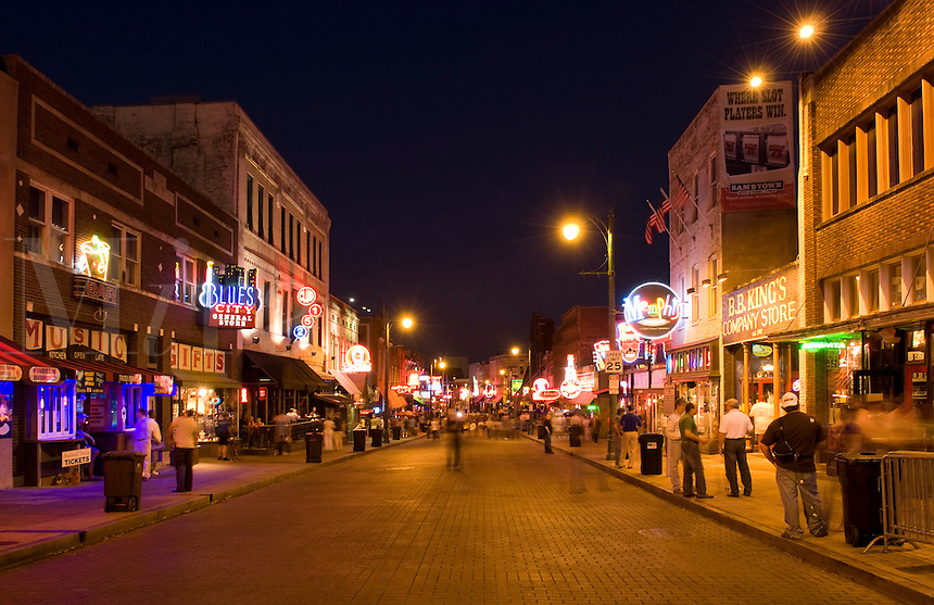 Jazz clubs on Beale Street in Memphis, Tennessee