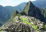 The Lost Incan city of Machu Picchu new Cusco, Peru.
