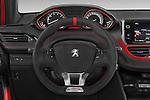 Car pictures of steering wheel view of a 2014 Peugeot 208 GTI 3 Door Hatchback 2WD Steering Wheel