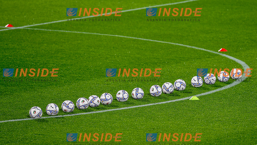 Italy's official Puma balls are seen during the friendly football match between Italy and Estonia at Artemio Franchi Stadium in Firenze (Italy), November, 11th 2020. Photo Andrea Staccioli/ Insidefoto