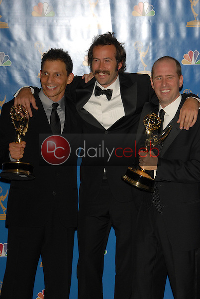 Marc Buckland with Jason Lee and Gregory Thomas Garcia<br />in the Press Room at the 58th Annual Primetime Emmy Awards. The Shrine Auditorium, Los Angeles, CA. 08-27-06<br />Scott Kirkland/DailyCeleb.com 818-249-4998