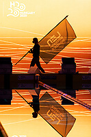 Pellegrini Federica ITA during the official handover ceremony of the European Championships flag between Budapest and Rome<br /> Swimming - official flag handover ceremony<br /> XXXV LEN European Aquatic Championships<br /> Duna Arena<br /> Budapest  - Hungary  23/5/2021<br /> Photo Giorgio Perottino / Deepbluemedia / Insidefoto