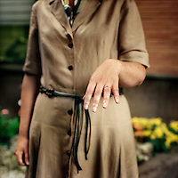 Marta Rodriguez shows the ring on the finger. She is married to Jesus Christ as she is a nun of Regnum Christi, the lay apostolic movement of the Legionaries of Christ. The Legion of Christ is a conservative Roman Catholic congregation whose members take vows of chastity, obedience and poverty. The nuns of Regnum Christi do not wear habits.