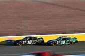 #18: Riley Herbst, Joe Gibbs Racing, Toyota Supra Monster Energy and #19: Brandon Jones, Joe Gibbs Racing, Toyota Supra Juniper