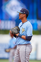 Tampa Bay Rays Carlos Vargas (95) during a Florida Instructional League game against the Baltimore Orioles on October 1, 2018 at the Charlotte Sports Park in Port Charlotte, Florida.  (Mike Janes/Four Seam Images)