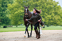 GBR-Tabitha Baker presents Cavalier Gunfire during the CCI-L 2* First Horse Inspection. 2021 GBR-Saracen Horse Feeds Houghton International Horse Trials. Hougton Hall. Norfolk. England. Wednesday 26 May 2021. Copyright Photo: Libby Law Photography