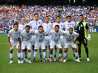El Salvador Team Photo.  Panama defeated El Salvador in penalty kicks 5-3 in the quaterfinals for the 2011 CONCACAF Gold Cup , at RFK Stadium, Sunday June 19, 2011.