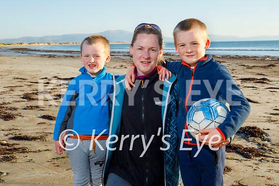 Enjoying Ballyheigue beach on Good Friday, l to r: Tom McCarthy, Kate Brown and TJ McCarthy.