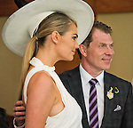 October 31, 2015 : Supermodel Kate Upton poses with Bobby Flay at the Breeders' Cup at Keeneland Race Course in Lexington, Kentucky.  Scott Serio/ESW/CSM