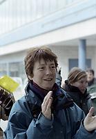 Francoise David lors d'une manifestation du FRAPPRU, date exacte inconnue, possiblement 2014 ou avant<br /> <br /> PHOTO : Agence Quebec Presse