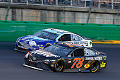 Monster Energy NASCAR Cup Series<br /> Quaker State 400<br /> Kentucky Speedway, Sparta, KY USA<br /> Saturday 8 July 2017<br /> Martin Truex Jr, Furniture Row Racing, Furniture Row/Denver Mattress Toyota Camry and Matt DiBenedetto, GO FAS Racing, Corvetteparts.net/Anest Iwata Ford Fusion<br /> World Copyright: Russell LaBounty<br /> LAT Images