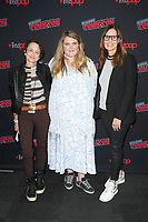 """NEW YORK CITY - OCTOBER 9:   Executive Producer Nina Jacobson, Eliza Clark and Mari-Jo Winkler attends a 2021 New York Comic Con event for FX's """"Y: The Last Man"""" at the Javits Center on October 9, 2021 in New York City.  (Photo by Ben Hider/FX//PictureGroup)"""