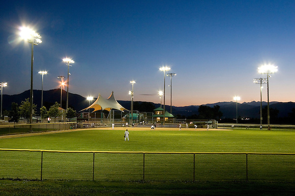Night game at Stazio Baseball Field, Boulder, Colorado, John offers private photo tours of Boulder, Denver and Rocky Mountain National Park. .  John leads private photo tours in Boulder and throughout Colorado. Year-round.