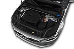 Car stock 2019 Volvo S90 Inscription PHEV T8 AWD 4 Door Sedan engine high angle detail view