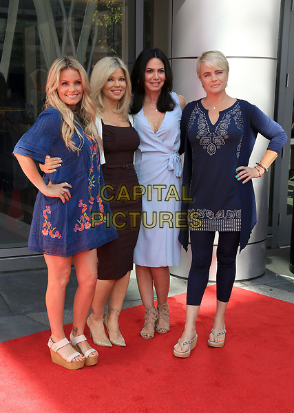 """LOS ANGELES, CA - April 22: Kelly Packard, Donna D'Errico, Nancy Valen, and Erika Eleniak, At The """"Baywatch"""" SlowMo Marathon At Microsoft Square In California on April 22, 2017.<br /> CAP/MPI/FS<br /> ©FS/MPI/Capital Pictures"""
