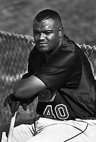 Earl Cunningham of the Lake Elsinore Storm during a 1995 season game at Mavericks Stadium in Adelanto,California.(Larry Goren/Four Seam Images)
