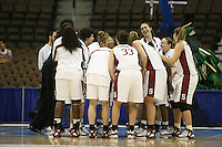 18 March 2006: Eziamaka Okafor, Cissy Pierce, Jillian Harmon, Brooke Smith, Morgan Clyburn, Clare Bodensteiner, and Krista Rappahahn during Stanford's 72-45 win over Southeast Missouri State in the first round of the NCAA Women's Basketball championships at the Pepsi Center in Denver, CO.