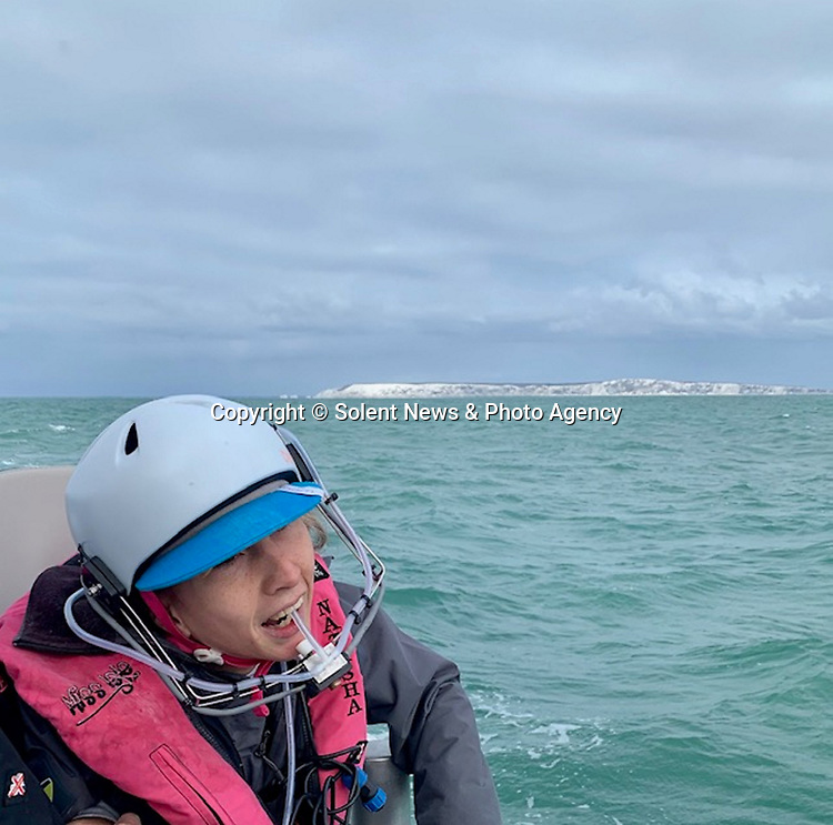 Pictured:  Natasha Lambert.<br /> <br /> A young woman with cerebral palsy has sailed 3,000 miles across the Atlantic ocean in just 18 days - using only her mouth and tongue to control the boat.<br /> <br /> Natasha Lambert, 23, used the 'sip and puff' system engineered by her electrician father to sail from Gran Canaria on the Western coast of Africa to St Lucia in the Caribbean.<br /> <br /> The trip, which hoped to raise £30,000 for three charities, took 18 days, 24 hours, 29 minutes and eight seconds to complete.   SEE OUR COPY FOR DETAILS.<br /> <br /> © Solent News & Photo Agency<br /> UK +44 (0) 2380 458800