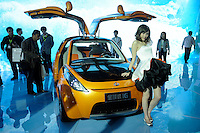 Geely's electronic-energy car, GLEAGLE IG,  at Beijing Auto Show 2010. The car show has attracted all the world's major auto markers. China's vehicle sales have breached the 10-million barrier for the first time ever, with 10.9 million automobiles sold last year. .24 Apr 2010