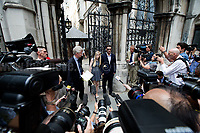 10.07.2017 - Charlie Gard's Parents Leave the Royal Courts of Justice After Hearing