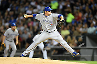 Toronto Blue Jays pitcher Chad Jenkins (64) delivers a pitch during a game against the Chicago White Sox on August 15, 2014 at U.S. Cellular Field in Chicago, Illinois.  Chicago defeated Toronto 11-5.  (Mike Janes/Four Seam Images)